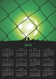 Simple 2019 year calendar. Vector format Royalty Free Stock Photography