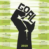 Simple 2019 year calendar. Vector format Royalty Free Stock Images