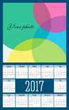 Simple 2017 year vector calendar. / 2017 calendar design Royalty Free Stock Photography