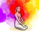 Simple Yoga Pose royalty free illustration