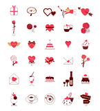 Simpleline icons for Valentine's day Stock Image