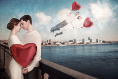 Simplement amour, sentimental et naïf Photos stock