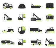 Simplement icônes industrielles Photographie stock