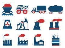 Simplemente iconos industriales Fotografía de archivo