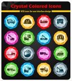 Simplemente iconos industriales Imagen de archivo