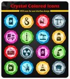Simplemente iconos industriales Foto de archivo