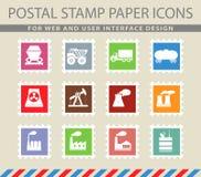 Simplemente iconos industriales Imágenes de archivo libres de regalías