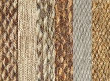 Simples da colagem do teste padrão da textura da tela de lãs do camelo. Fotos de Stock Royalty Free