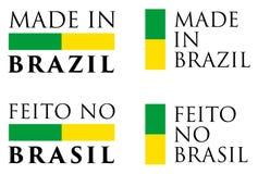 Simples feito em Brasil/Feito nenhuma tradução do português de Brasil ilustração royalty free