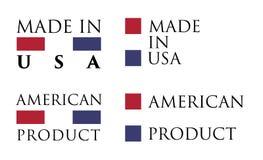 Simples feito nos EUA/etiqueta americana do produto Texto com nacional ilustração stock