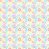 Simples pattern of colored circles. Stock Photography