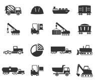 Simplesmente ícones industriais Foto de Stock Royalty Free