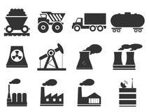 Simplesmente ícones industriais Foto de Stock