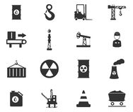 Simplesmente ícones industriais Imagens de Stock Royalty Free