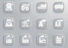 Simplesmente ícones industriais Fotos de Stock
