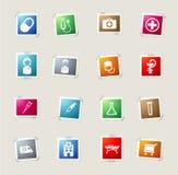 Simplesmente ícones médicos Imagens de Stock
