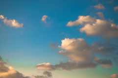 The simplest picture sky with clouds. Stock Photos