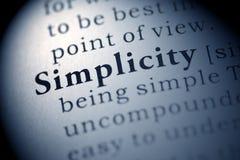 simplicidad Foto de archivo libre de regalías