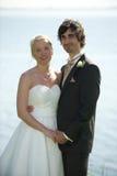 Simplicidad de los pares de la boda Foto de archivo libre de regalías