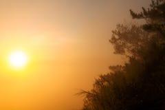 Simplicidad de una salida del sol Imagen de archivo libre de regalías