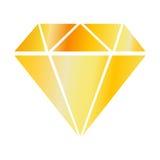 Simplicité précieuse de pierre de couleur d'or d'exécution illustration stock