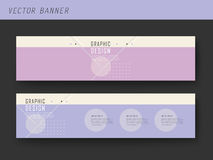 Simplicity banner template design Stock Images