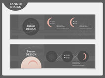 Simplicity banner template design set Royalty Free Stock Images