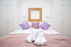Simplicity bedroom in home Stock Photo