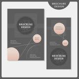 Simplicity brochure template design set Stock Photography