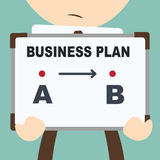 Simplicity business - Point a to b Royalty Free Stock Image