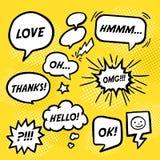 Simplicity comic speech bubbles set Royalty Free Stock Photos