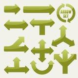 Simplicity green arrows set Royalty Free Stock Photo