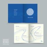 Simplicity half-fold brochure template design Stock Photo