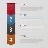 Simplicity infographic design Royalty Free Stock Photography