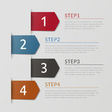 Simplicity infographic design Royalty Free Stock Photos
