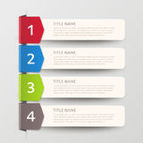 Simplicity infographic design Royalty Free Stock Images