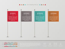 Simplicity infographic design Royalty Free Stock Photos