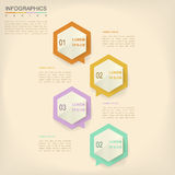 Simplicity infographic design Stock Images