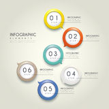 Simplicity infographic design Stock Image