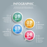 Simplicity infographic design Royalty Free Stock Image