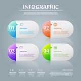 Simplicity infographic design Stock Photos