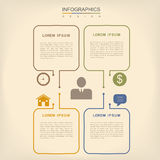 Simplicity infographic design Stock Photography