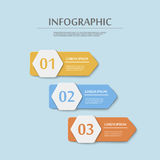 Simplicity infographic template Royalty Free Stock Image