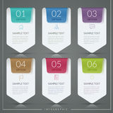 Simplicity infographic template Stock Images