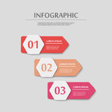 Simplicity infographic template Royalty Free Stock Images