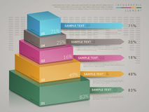 Simplicity infographic template. Design with 3d isometric chart Stock Photo
