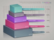 Simplicity infographic template. Design with 3d isometric chart Royalty Free Stock Image