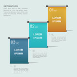 Simplicity infographic template Stock Image