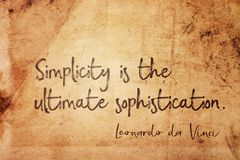 Simplicity is Leonardo Royalty Free Stock Images