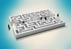 Simplicity. Maze effortless innovation business footpath accessibility Stock Photography
